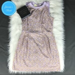 Pink Owl Lavender Gold Embellished Sheath Dress L